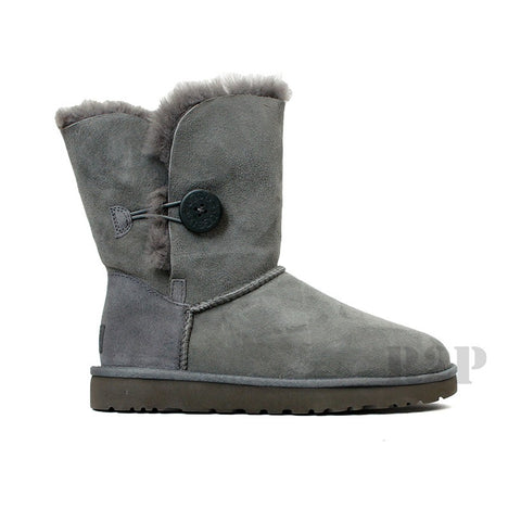 UGG Australia Bailey Button (Grey) Women's  5803