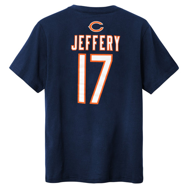 Alshon Jeffery NFL Chicago Bears Name & # Jersey Navy Blue T-Shirt Youth (M-2XL)