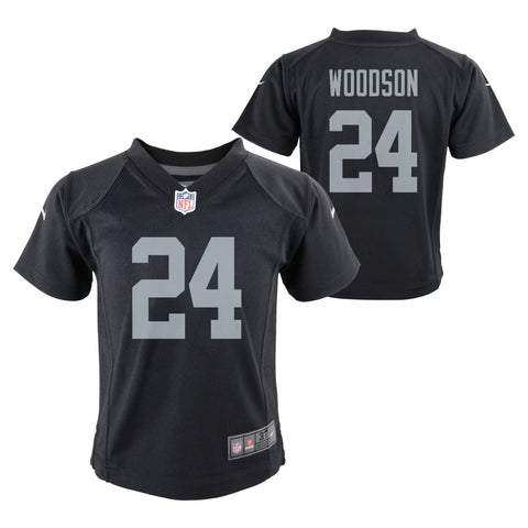 Charles Woodson Oakland Raiders NFL Nike Boys Black  Game Jersey