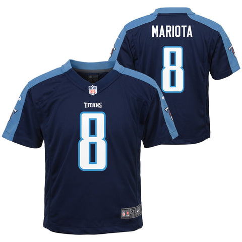 Marcus Mariota Tennessee Titans NFL Nike Boys Navy Blue Alt Game Jersey