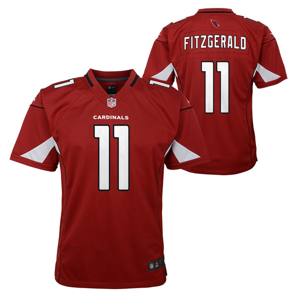 Larry Fitzgerald Arizona Cardinals NFL Nike Youth Red  Game Jersey