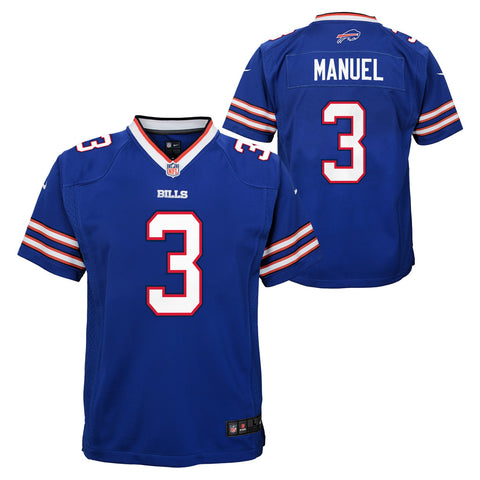 E.J. Manuel Buffalo Bills NFL Nike Youth Blue  Game Jersey
