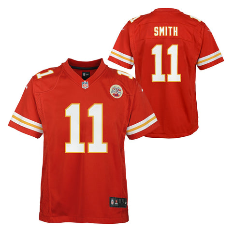 Alex Smith Kansas City Chiefs NFL Nike Youth Red  Game Jersey