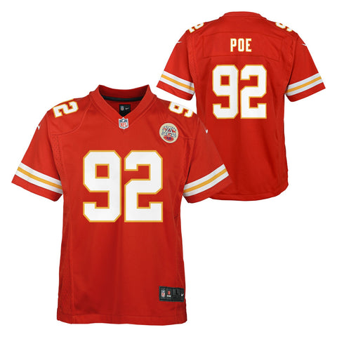 Dontari Poe Kansas City Chiefs NFL Nike Youth Red  Game Jersey