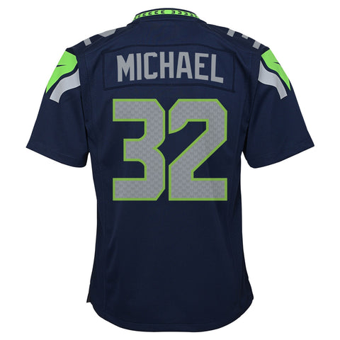 Christine Michael Seattle Seahawks Nike Home Navy Blue Game Jersey Youth (S-XL)
