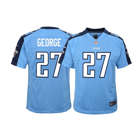 Eddie George Tennessee Titans NFL Youth Nike Light Blue Alt Game Jersey