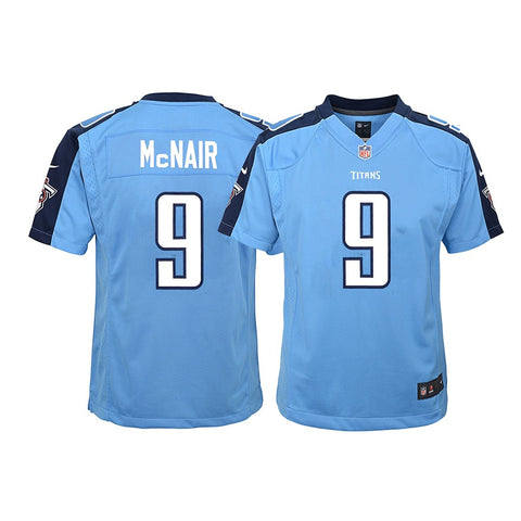 Steve McNair Tennessee Titans NFL Youth Nike Light Blue Alt Game Jersey