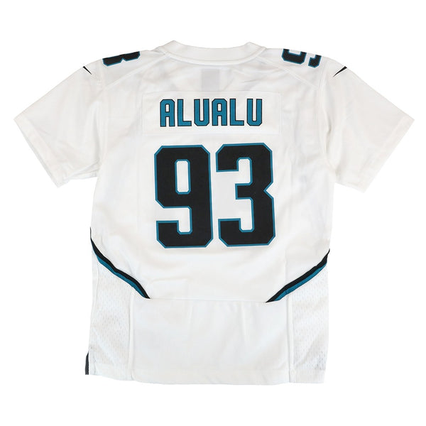 Tyson Alualu Jacksonville Jaguars Nike Away White Game Jersey Youth (S-XL)