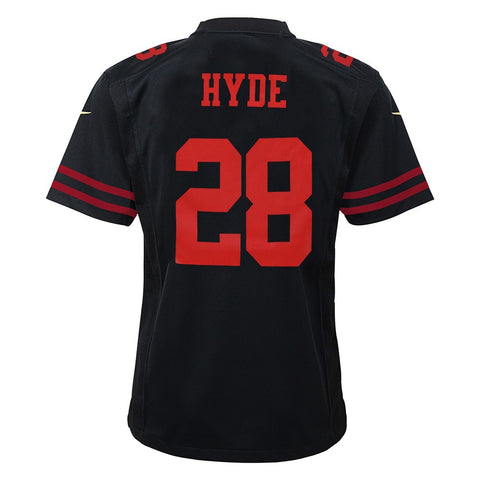 Carlos Hyde San Francisco 49ers Nike Alternate Black Game Jersey Youth (S-XL)