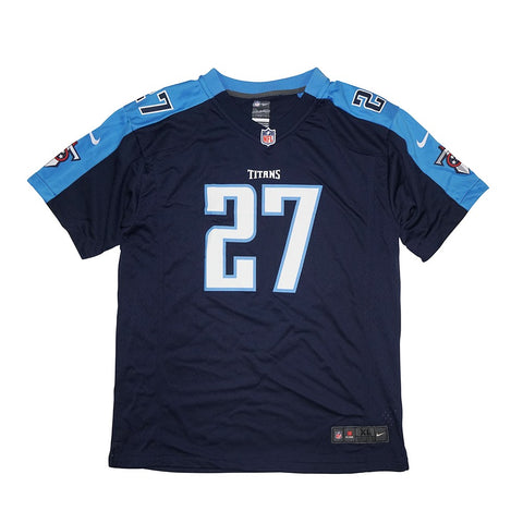 Eddie George Nike Tennessee Titans Nike Game Day Alternate Navy Youth Jersey