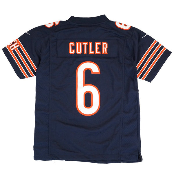 Jay Cutler Chicago Bears Home Navy Blue Limited Sewn Jersey Youth (S-XL)