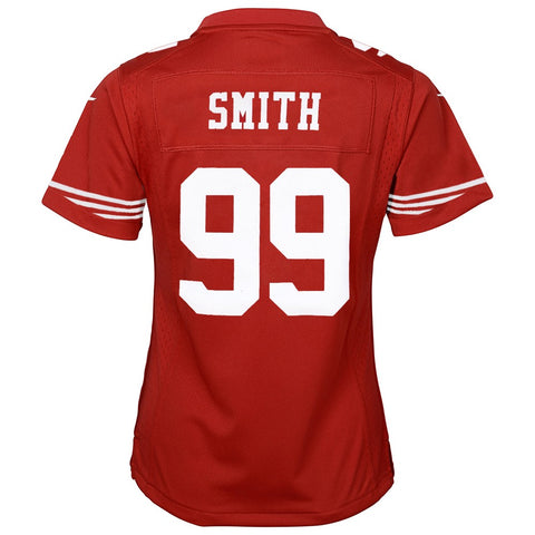 Aldon Smith San Francisco 49ers Nike Red Home Game Jersey Girls Youth (S-XL)