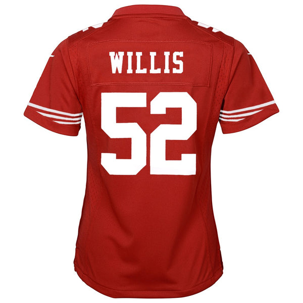 Patrick Willis San Francisco 49ers Nike Home Red Jersey Girls Youth (S-XL)