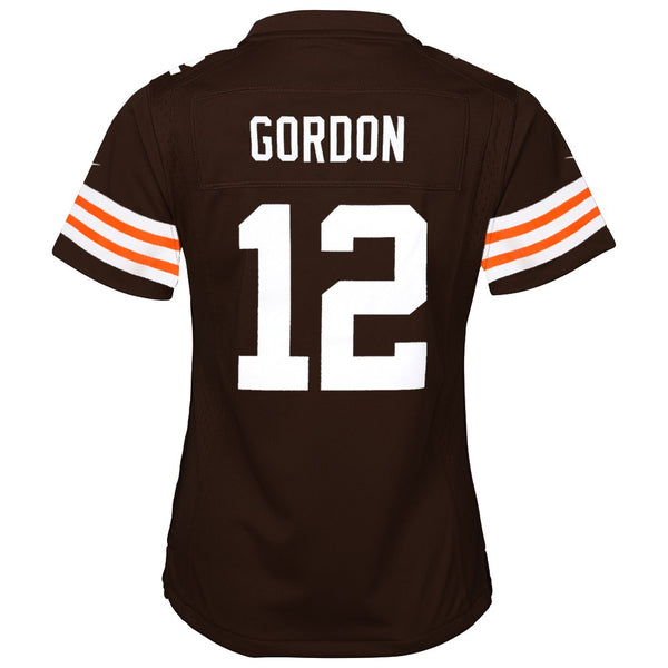 Josh Gordon Cleveland Browns Nike Home Brown Jersey Girls Youth (S-XL)