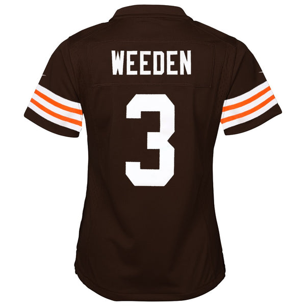 Brandon Weeden Cleveland Browns Nike Home Brown Jersey Girls Youth (S-XL)
