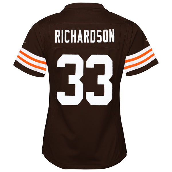 Trent Richardson Cleveland Browns Nike Home Brown Jersey Girls Youth (S-XL)