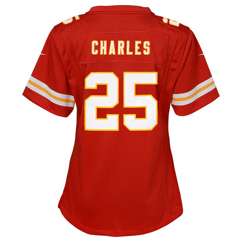 Jamaal Charles Kansas City Chiefs Nike Home Red Jersey Girls Youth (S-XL)
