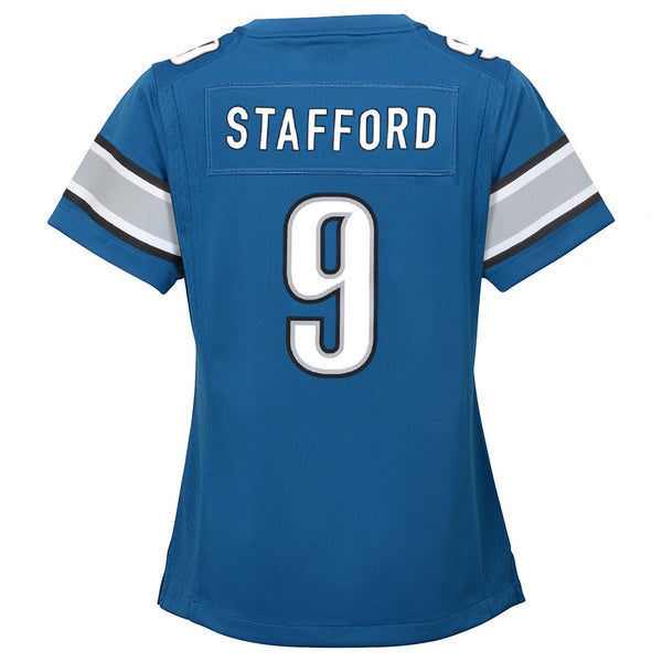 Matthew Stafford Detroit Lions Nike Home Blue Jersey Girls Youth (S-XL)