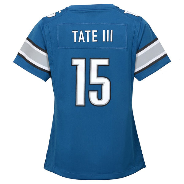 Golden Tate Detroit Lions Nike Home Blue Jersey Girls Youth (S-XL)