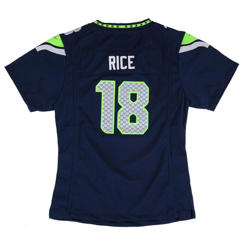0bf7326b4ac Sidney Rice Seattle Seahawks Nike Home Navy Blue Jersey Girls Youth (S-XL)