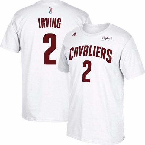 Kyrie Irving Cleveland Cavaliers NBA Adidas White 2015 Finals Jersey T-Shirt