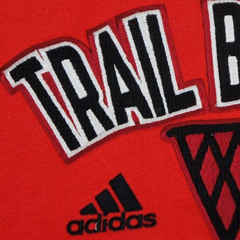 "Portland Trail Blazers NBA Adidas Men's Red ""Playbook"" Applique Fleece Hoodie"