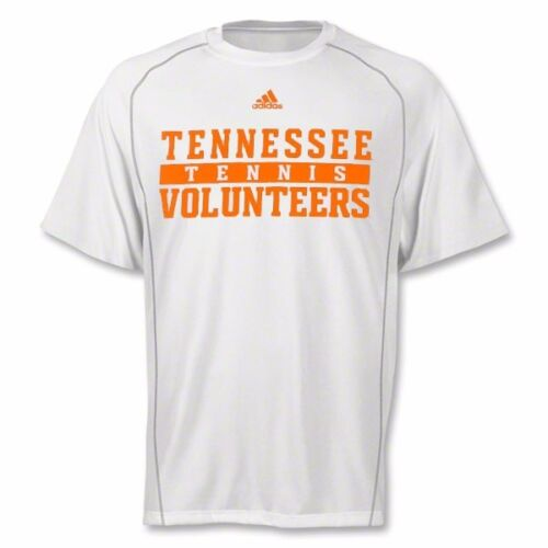 Tennessee Volunteers NCAA Adidas Men's White Tennis Climalite Performance Shirt