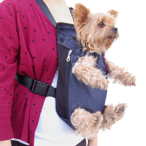 Legs Out Front Dog Carrier - Denim Blue