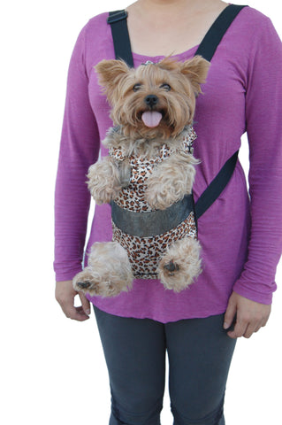 Legs Out Front Dog Carrier - Leopard