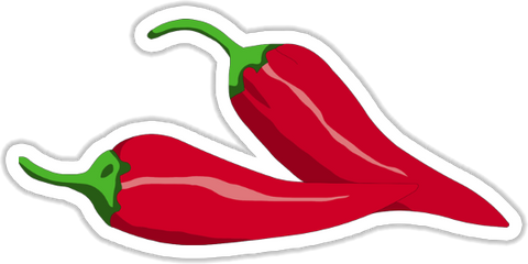 Red Peppers Sticker