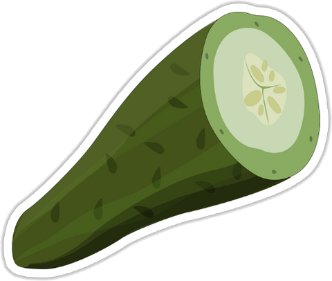 Cucumber Sticker