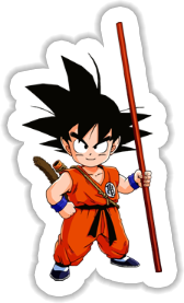 Kid Goku Sticker
