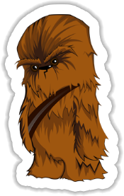 Chewbacca - Star Wars Sticker