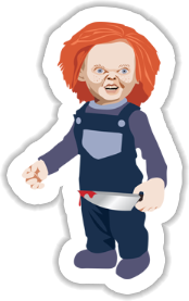 Chucky - Child's Play Sticker