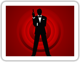 Agent 007 - James Bond Sticker