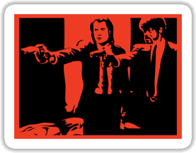 John Travolta & Samuel L. Jackson - Pulp Fiction Sticker