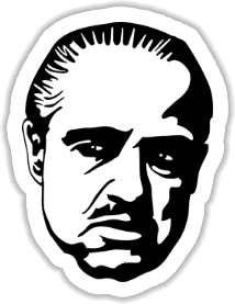 Marlon Brando - The Godfather   Sticker
