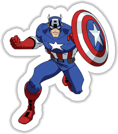 Capitan America Sticker