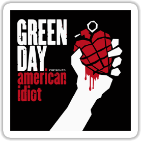 Green Day - American Idiot Sticker