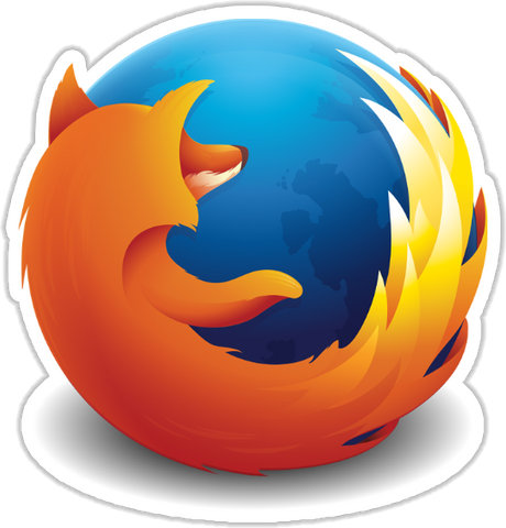 Firefox Sticker