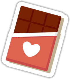 Chocolate with Love Sticker