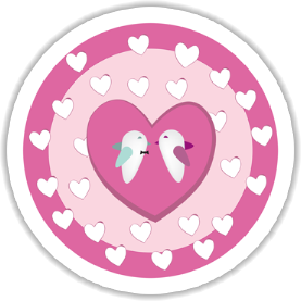 Birds In Love Sticker