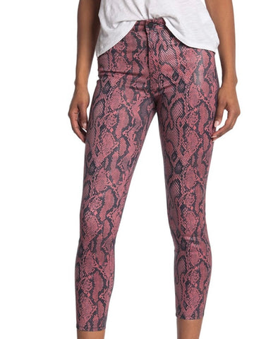 Margot Coated Snakeskin Print Skinny Jeans