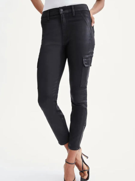 Coated Skinny Cargo - Black