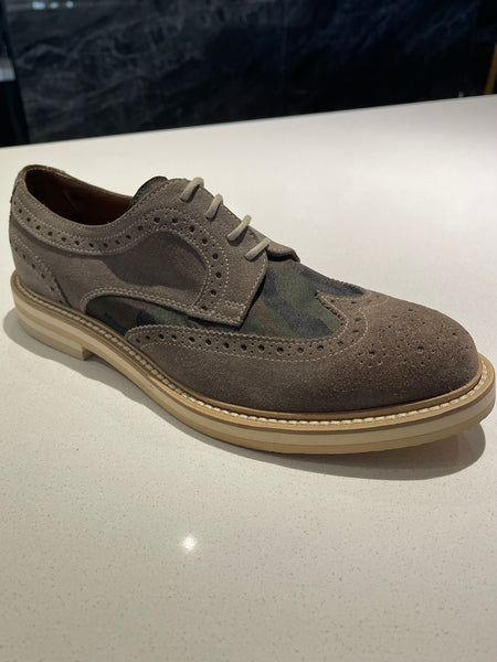 Tan Suede and Army Brogue