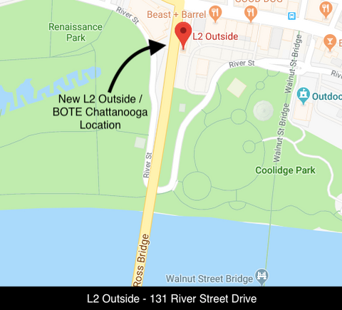 New location of L2 Outside / BOTE Chattanooga paddle boards