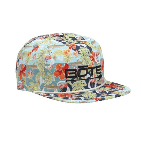 Bote Native Floral Flat Brim Hat