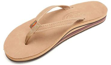 Rainbow Single Layer Premier Leather with Arch Support & Narrow Strap