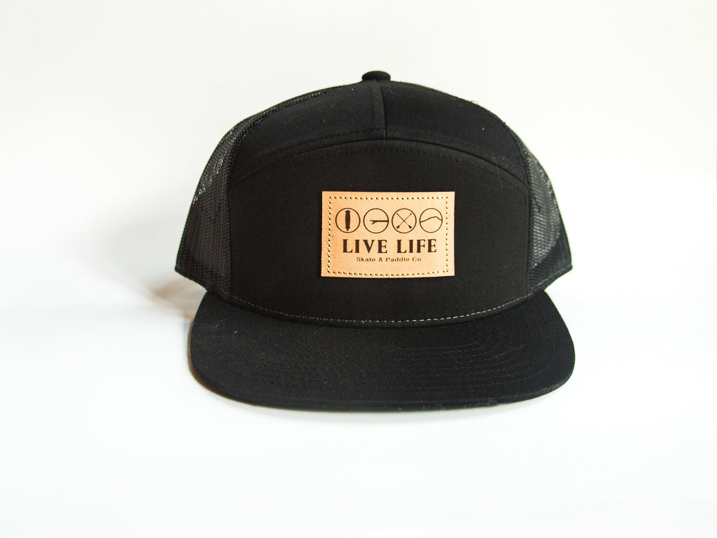 Live Life Patch Trucker Hats