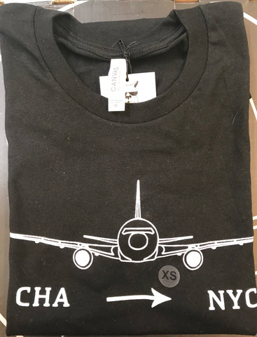 Airplane ||| CHA > NYC Tee